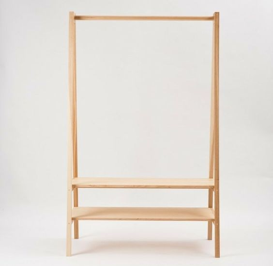 Freestanding Wooden Clothing Racks